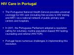 hiv care in portugal