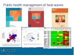 public health management of heat waves
