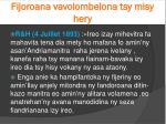fijoroana vavolombelona tsy misy hery2