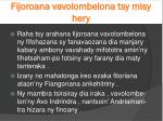 fijoroana vavolombelona tsy misy hery4