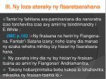 iii ny loza ateraky ny fisaratsarahana1