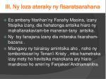 iii ny loza ateraky ny fisaratsarahana4