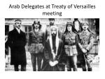 arab delegates at treaty of versailles meeting