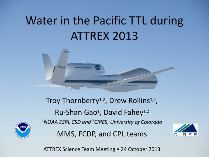 water in the pacific ttl during attrex 2013 n.