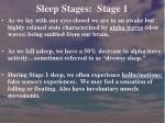 sleep stages stage 1