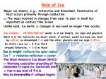 role of ice