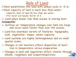 role of land