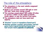 the role of the atmosphere