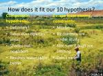 how does it fit our 10 hypothesis