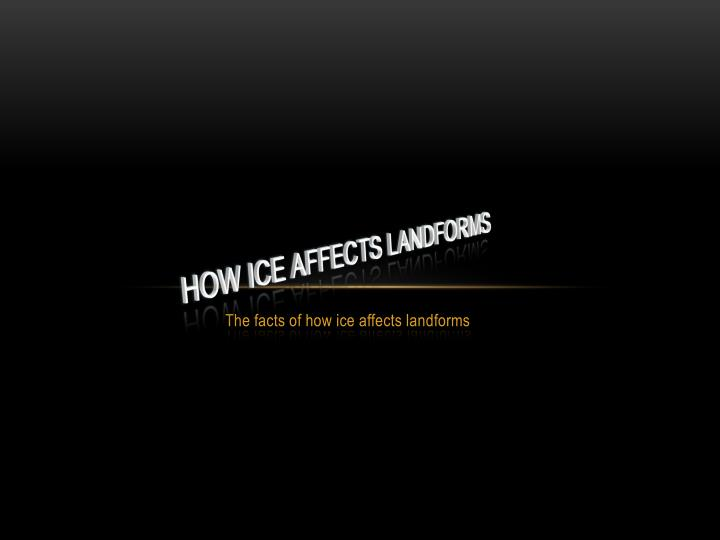 how ice affects landforms n.