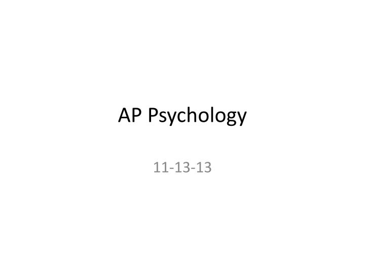 ap psychology n.