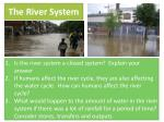 the river system1