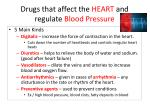 drugs that affect the heart and regulate blood pressure