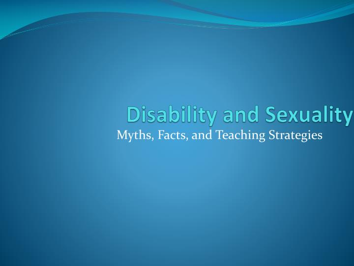 disability and sexuality n.