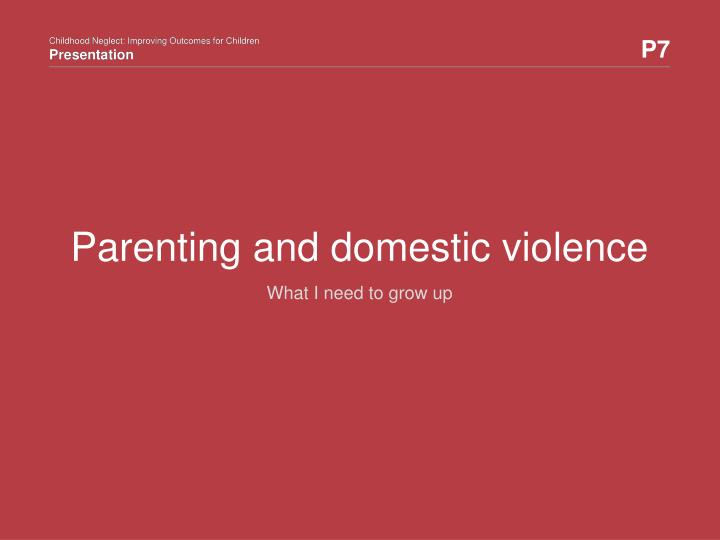 parenting and domestic violence n.