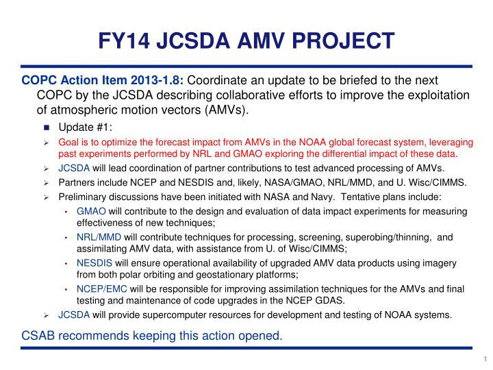 fy14 jcsda amv project n.
