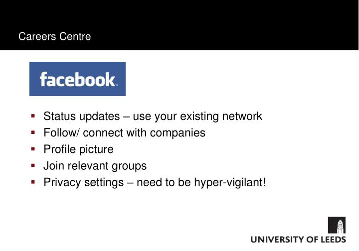 Status updates – use your existing network