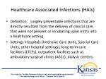 healthcare associated infections hais
