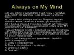always on my mind