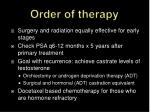 order of therapy
