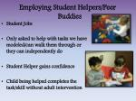 employing student helpers peer buddies
