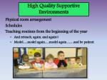 high quality supportive environments1