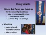using visuals