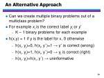 an alternative approach1