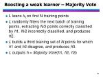 boosting a weak learner majority vote