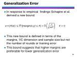 generalization error1