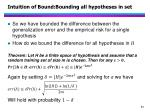 intuition of bound bounding all hypotheses in set