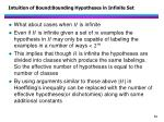 intuition of bound bounding hypotheses in i nfinite s et