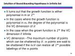 intuition of bound bounding hypotheses in infinite set2