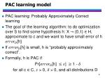 pac learning model