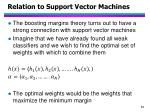 relation to support vector machines
