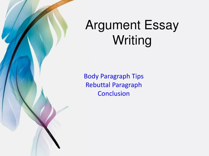 argument essay writing n.