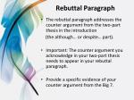 rebuttal paragraph