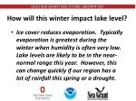 how will this winter impact lake level