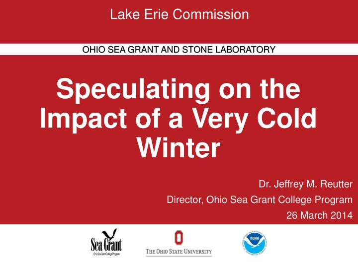 speculating on the impact of a very cold winter n.