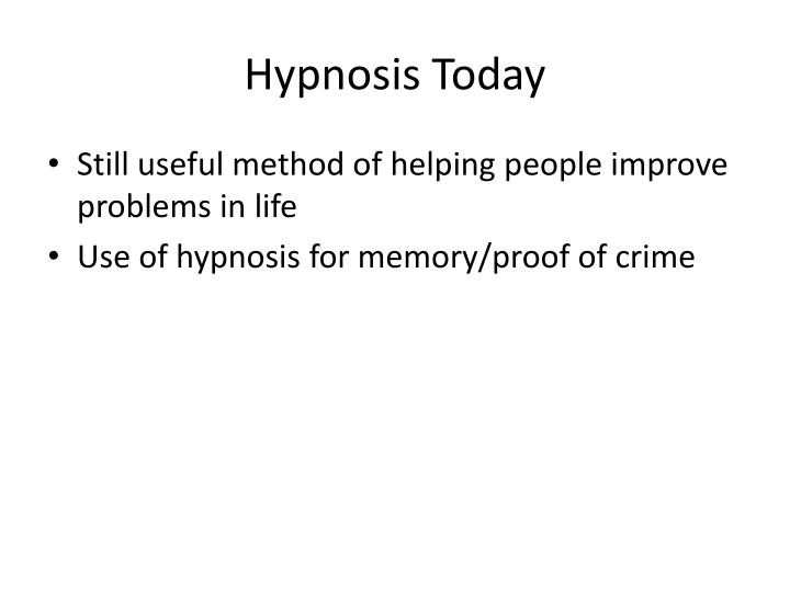 Hypnosis Today