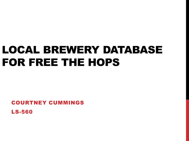 local brewery database for free the hops n.
