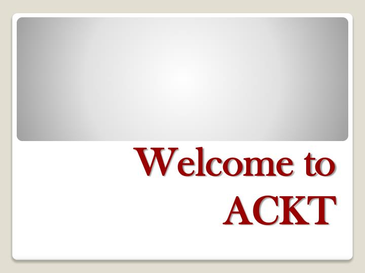 welcome to ackt n.