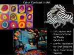 color contrast in art