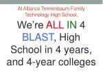 at alliance tennenbaum family technology high school