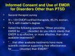 informed consent and use of emdr for disorders other than ptsd