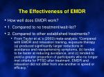 the effectiveness of emdr