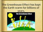 the greenhouse effect has kept the earth warm for billions of years