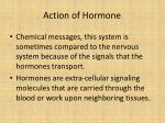 action of hormone
