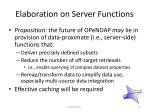 elaboration on server functions