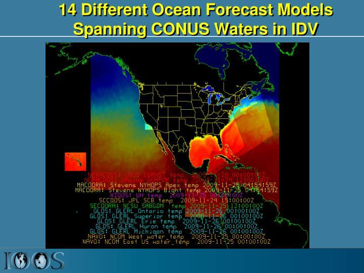 14 Different Ocean Forecast Models